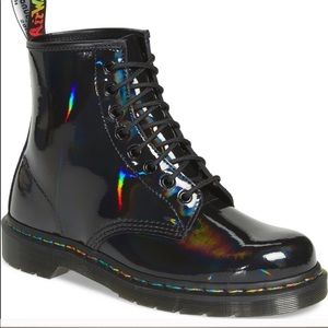 Dr. Martens 1460 Rainbow Patent Boots 8